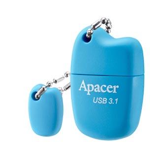 Apacer USB flash disk, 3.1, 8GB, AH159, modrý, modrá, AP8GAH159U-1, s krytkou