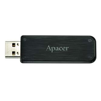 Apacer USB flash disk, 2.0, 8GB, AH325, černý, AP8GAH325B-1, s výsuvným konektorem