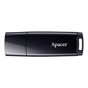 Apacer USB flash disk, 2.0, 8GB, AH336, černý, černá, AP8GAH336B-1, s krytkou