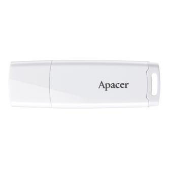 Apacer USB flash disk, 2.0, 8GB, AH336, bílý, bílá, AP8GAH336W-1, s krytkou