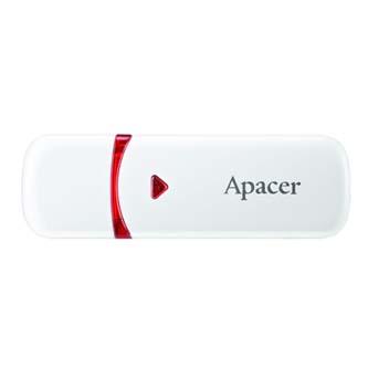 Apacer USB flash disk, 2.0, 8GB, AH333, bílý, AP8GAH333W-1, s krytkou