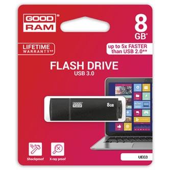 Goodram USB flash disk, 3.0, 8GB, UEG3, černý, UEG3-0080K0R11