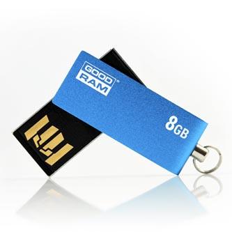 Goodram USB flash disk, 2.0, 8GB, UCU2, modrý, UCU2-0080B0R11, podpora OS Win 7, nové papírové balení