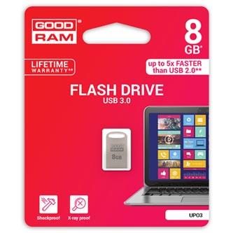 Goodram USB flash disk, 3.0, 8GB, UPO3, stříbrný, UPO3-0080S0R11
