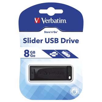 Verbatim USB 2.0, 8GB, černý, 98695, pro archivaci dat