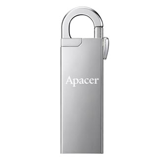 Apacer USB flash disk OTG, USB 3.0 (3.2 Gen 1), 16GB, AH179, stříbrný, AP16GAH179U-1, s krytkou