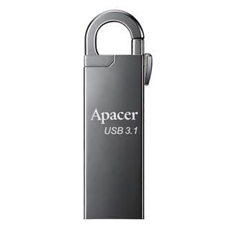 Apacer USB flash disk OTG, USB 2.0, 16GB, AH730, stříbrný, AP16GAH730S-1, USB A / USB Micro B, s otočnou krytkou
