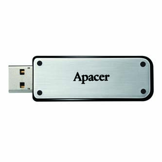 Apacer USB Flash Drive, 2.0, 16GB, AH328 16GB Flash Drive, stříbrný, AP16GAH328S-1