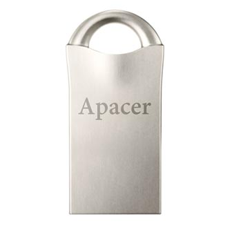 Apacer USB flash disk, USB 2.0, 16GB, AH326, bílý, AP16GAH326W-1, USB A, s výsuvným konektorem
