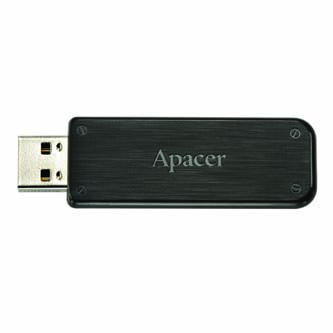 Apacer USB flash disk, 2.0, 16GB, AH325, černý, AP16GAH325B-1, s výsuvným konektorem