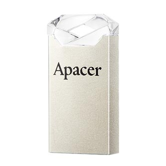 Apacer USB flash disk, USB 2.0, 16GB, AH118, černý, AP16GAH118B-1, USB A, s krytkou
