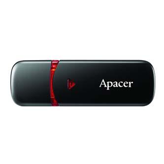 Apacer USB flash disk, USB 2.0, 16GB, AH333, bílý, AP16GAH333W-1, USB A, s krytkou