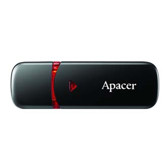 Apacer USB flash disk, 2.0, 16GB, AH333, černý, AP16GAH333B-1, s krytkou