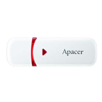 Apacer USB flash disk, USB 2.0, 16GB, AH33A, stříbrný, AP16GAH33AS-1, USB A, s výsuvnou krytkou