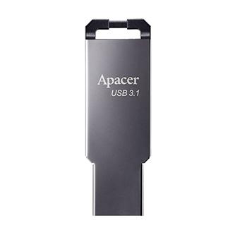 Apacer USB flash disk, USB 3.0 (3.2 Gen 1), 16GB, AH360, stříbrný, AP16GAH360A-1, s poutkem