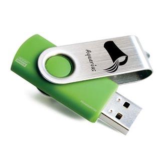 Goodram USB flash disk, 2.0, 16GB, Twister, světle zelený, podpora OS Win 7, Edition Zodiac, VODNÁŘ, v krabičce