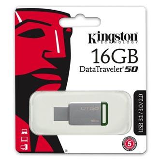 Kingston USB flash disk, 3.0, 16GB, DataTraveler DT50, zelený, DT50/16GB