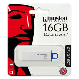 Kingston USB flash disk, 3.0, 16GB, Data Traveler DTI-G4, modrá, DTIG4/16GB