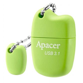 Apacer USB flash disk, USB 3.0 (3.2 Gen 1), 32GB, AH159, zelený, AP32GAH159G-1, USB A, s krytkou