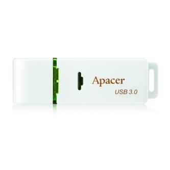 Apacer USB flash disk, 3.0, 32GB, AH358, bílá, zelená, AP32GAH358W-1, s krytkou
