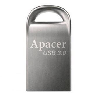 Apacer USB flash disk, USB 3.0 (3.2 Gen 1), 32GB, AH156, stříbrný, AP32GAH156A-1, USB A, s poutkem