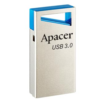 Apacer USB flash disk, USB 3.0 (3.2 Gen 1), 32GB, AH155, stříbrný, AP32GAH155U-1, USB A, s poutkem