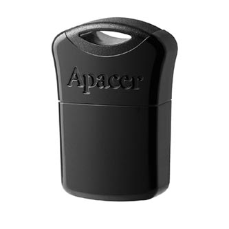 Apacer USB flash disk, USB 2.0, 32GB, AH116, černý, AP32GAH116B-1, USB A, s krytkou