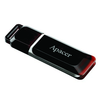 Apacer USB flash disk, 2.0, 32GB, AH321, červený, AP32GAH321R-1, s krytkou