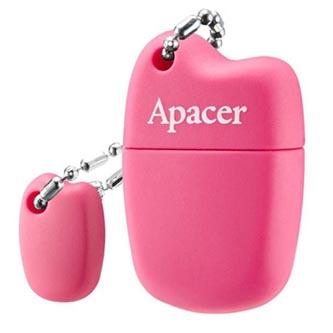 Apacer USB flash disk, USB 2.0, 32GB, AH118, růžový, AP32GAH118P-1, USB A, s krytkou