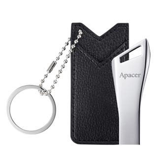 Apacer USB flash disk, 2.0, 32GB, AH13B, stříbrná, AP32GAH13BS-1, s poutkem a kapsičkou na zavěšení