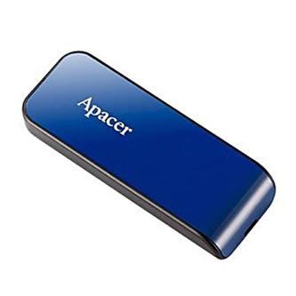 Apacer USB flash disk, USB 2.0, 32GB, AH334, modrý, AP32GAH334U-1, USB A, s výsuvným konektorem