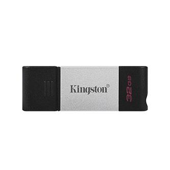 Kingston USB flash disk, USB 3.0 (3.2 Gen 1), 32GB, DataTraveler 80, černý, DT80/32GB, USB C