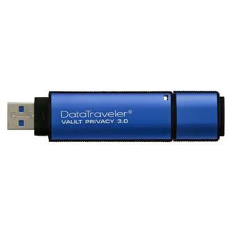 Kingston USB flash disk, 3.0, 32GB, Data Traveler Vault Privacy, modrý, DTVP30/32GB