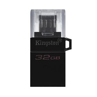 Kingston USB flash disk OTG, USB 3.0 (3.2 Gen 1), 32GB, Data Traveler microDuo3 G2, černý, DTDUO3G2/32GB, USB A / USB Micro B