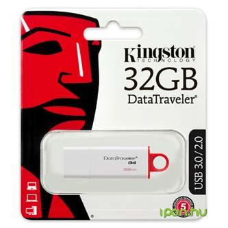 Kingston USB flash disk, 3.0, 32GB, Data Traveler DTI-G4, červená, DTIG4/32GB