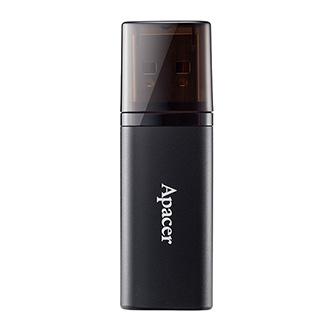 Apacer USB flash disk, USB 2.0, 64GB, AH23B, černý, AP64GAH23BB-1, USB A, s krytkou