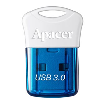 Apacer USB flash disk, USB 3.0 (3.2 Gen 1), 64GB, AH157, modrý, AP64GAH157U-1, USB A, s krytkou