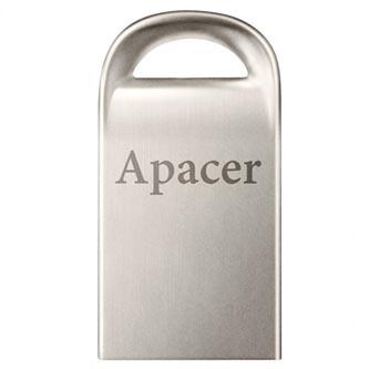 Apacer USB flash disk, USB 2.0, 64GB, AH115, stříbrný, AP64GAH115S-1, USB A, s poutkem