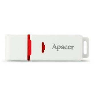 Apacer USB flash disk, USB 2.0, 64GB, AH223, bílý, AP64GAH223W-1, USB A, s krytkou