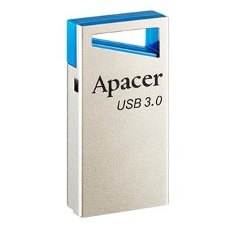 Apacer USB flash disk, USB 3.0 (3.2 Gen 1), 64GB, AH155, stříbrný, AP64GAH155U-1, USB A, s poutkem