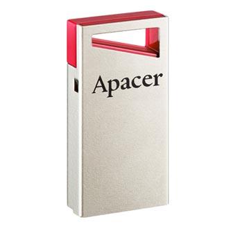 Apacer USB flash disk, USB 2.0, 64GB, AH112, stříbrný, AP64GAH112R-1, USB A, s poutkem