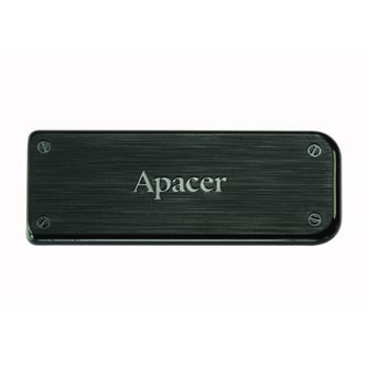 Apacer USB flash disk, 2.0, 64GB, AH325, černý, AP64GAH325B-1, s výsuvným konektorem
