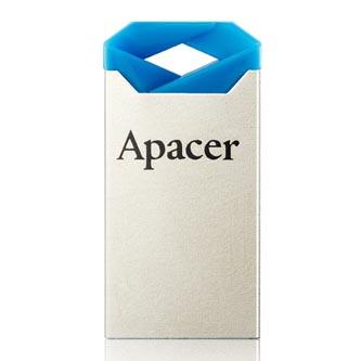 Apacer USB flash disk, USB 2.0, 64GB, AH111, modrý, AP64GAH111U-1, USB A, s poutkem