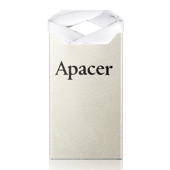 Apacer USB flash disk, USB 2.0, 64GB, AH111, stříbrný, AP64GAH111CR-1, USB A, s poutkem