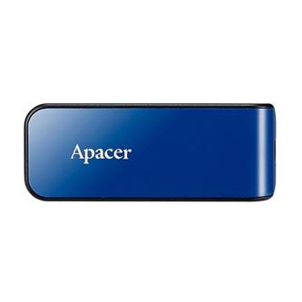 Apacer USB flash disk, 2.0, 64GB, AH334, modrý, černý, AP64GAH334U-1, s výsuvným konektorem