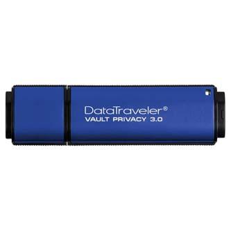 Kingston USB flash disk, 3.0, 64GB, Data Traveler Vault Privacy, modrý, DTVP30/64GB