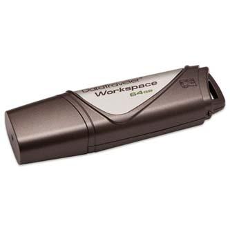 Kingston USB flash disk, 2.0, 64GB, Data Traveler Workspace, hnědý, DTWS/64GBBK