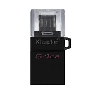 Kingston USB flash disk OTG, USB 3.0 (3.2 Gen 1), 64GB, Data Traveler microDuo3 G2, černý, DTDUO3G2/64GB, USB A / USB Micro B