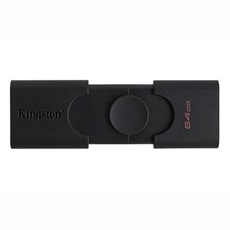 Kingston USB flash disk OTG, USB 3.0 (3.2 Gen 1), 64GB, DataTraveler Duo, černý, DTDE/64GB, USB A / USB C