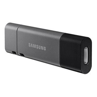 Samsung USB flash disk, 3.1, 64GB, DUO Plus, šedý, MUF-64DB/EU, s krytkou, odnímatelná redukce na USB A